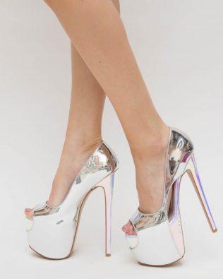 Pantofi Dikos Argintii
