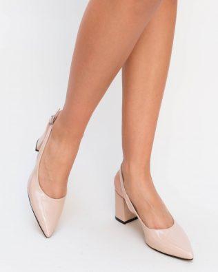 Pantofi Nona Nude